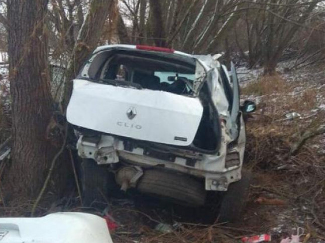 Автівка врізалася в дерево