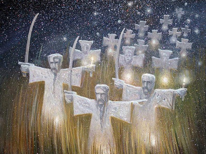«Козацькі могили» (малюнок Олега Шупляка)