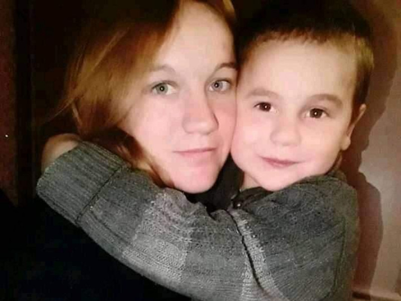 Людмила Партакевич із 4-річним сином